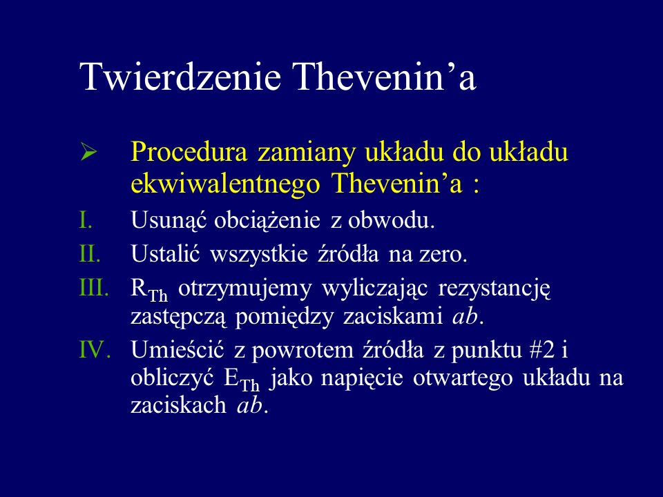 Twierdzenie Thevenin'a