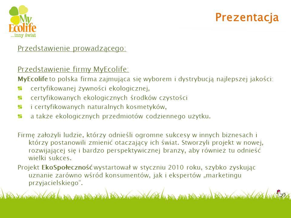 Prezentacja Przedstawienie prowadzącego: