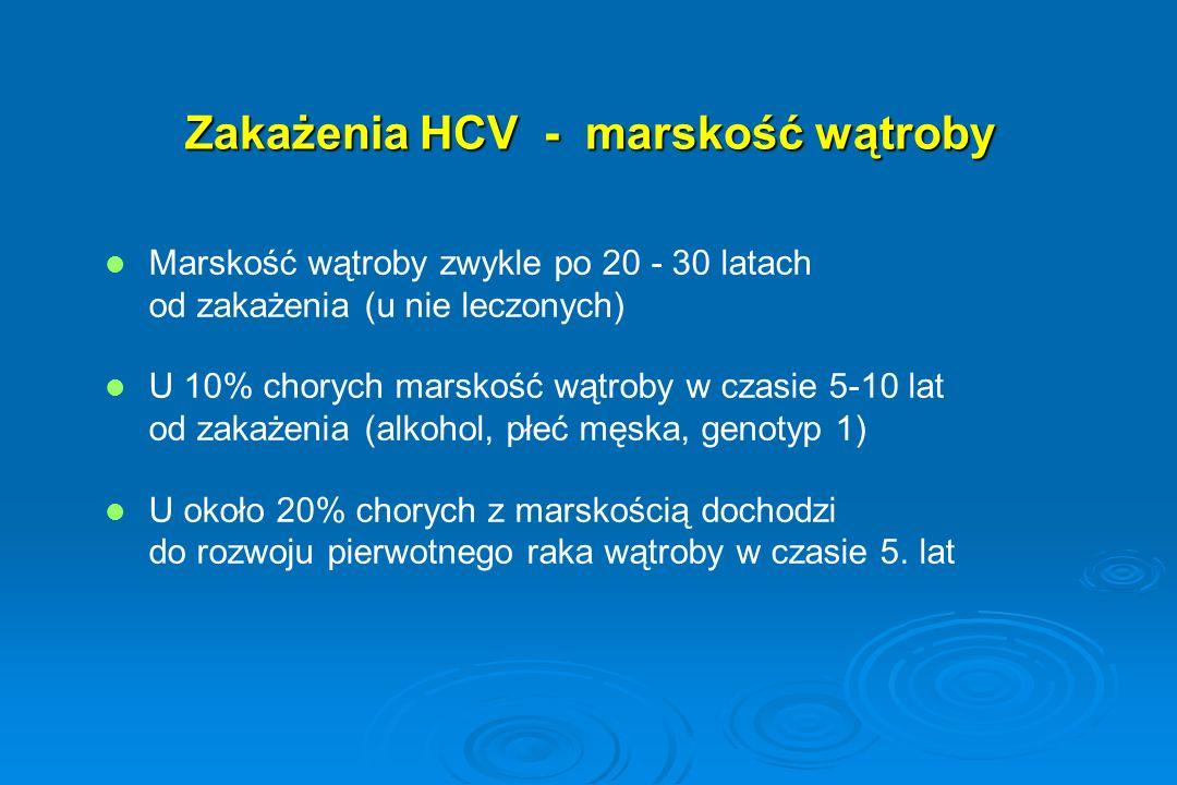 Zakażenia HCV - marskość wątroby