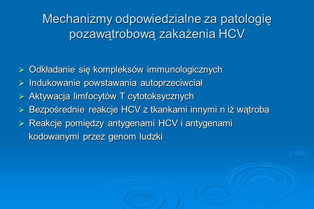Mechanizmy odpowiedzialne za patologię pozawątrobową zakażenia HCV