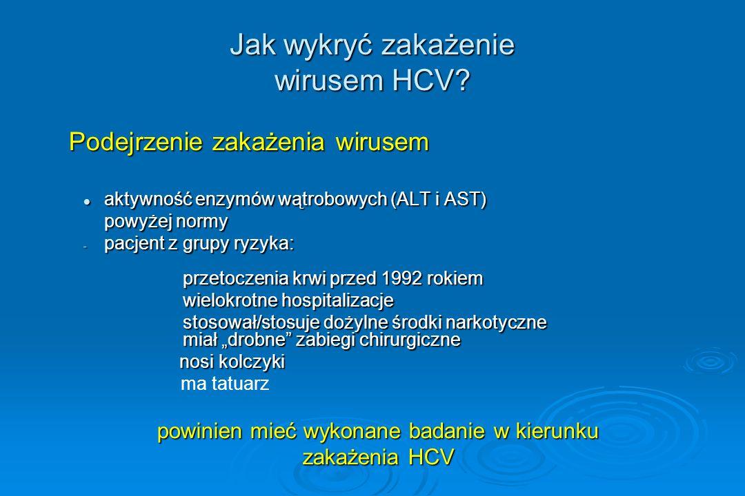 Jak wykryć zakażenie wirusem HCV