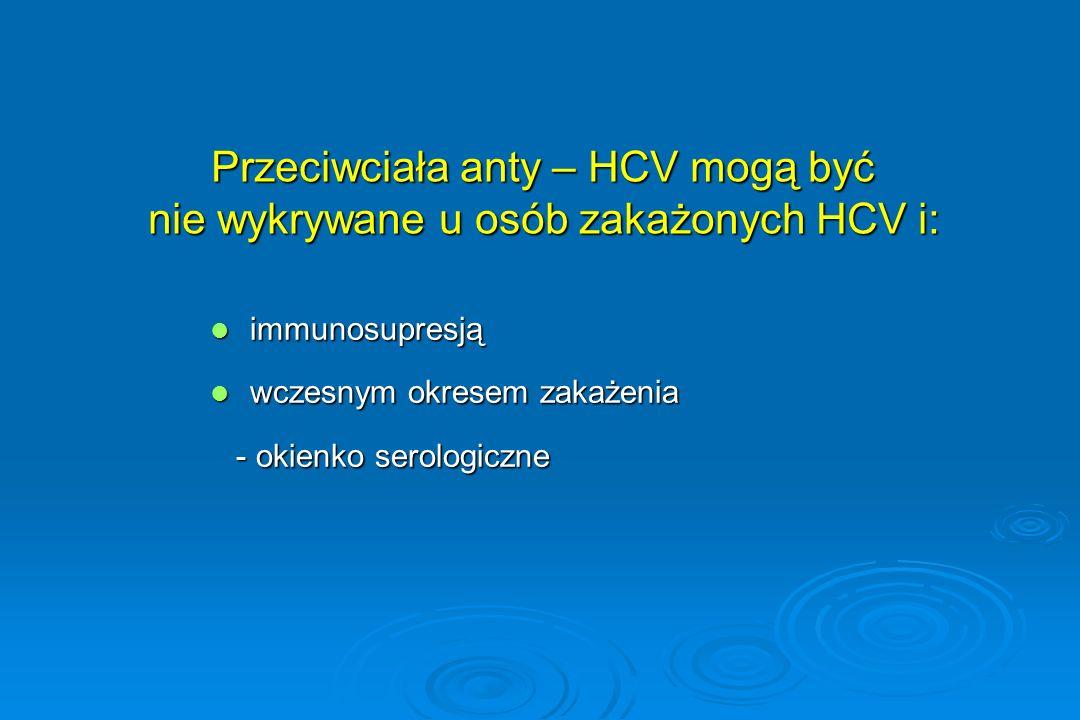 Przeciwciała anty – HCV mogą być nie wykrywane u osób zakażonych HCV i: