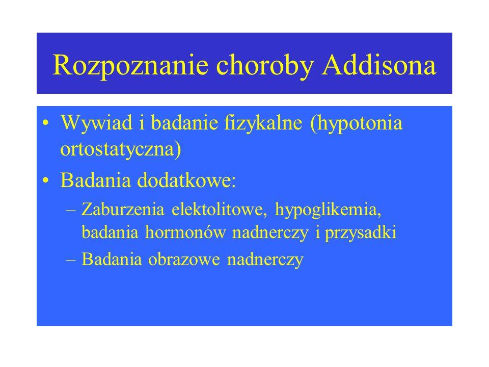 Rozpoznanie choroby Addisona