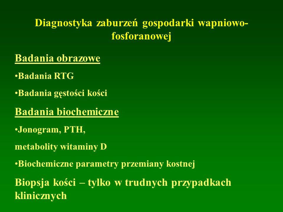 Diagnostyka zaburzeń gospodarki wapniowo-fosforanowej
