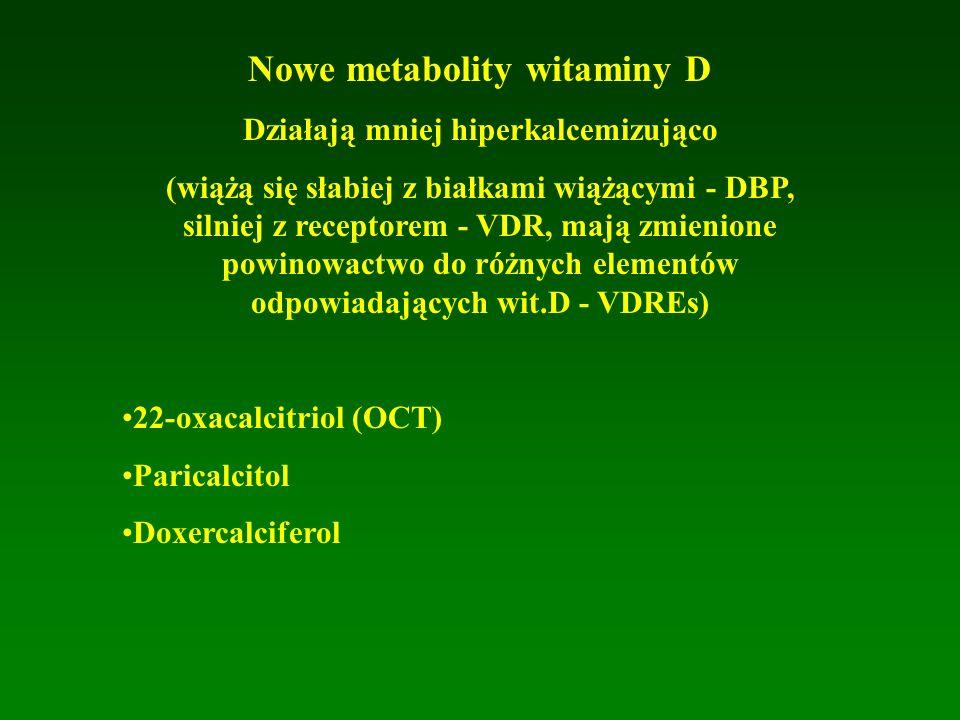 Nowe metabolity witaminy D Działają mniej hiperkalcemizująco