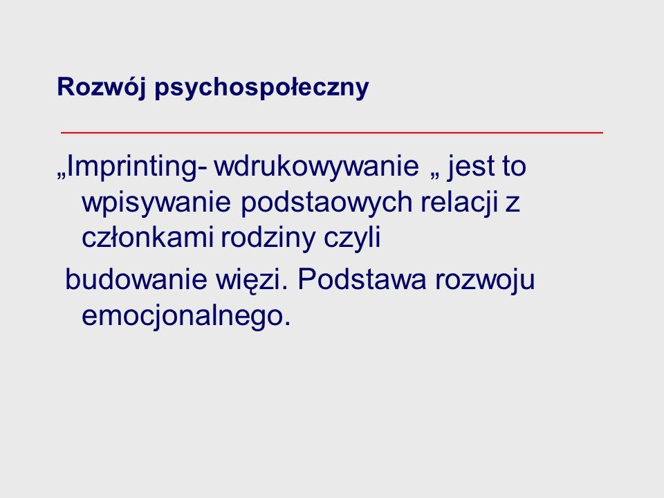 Rozwój psychospołeczny
