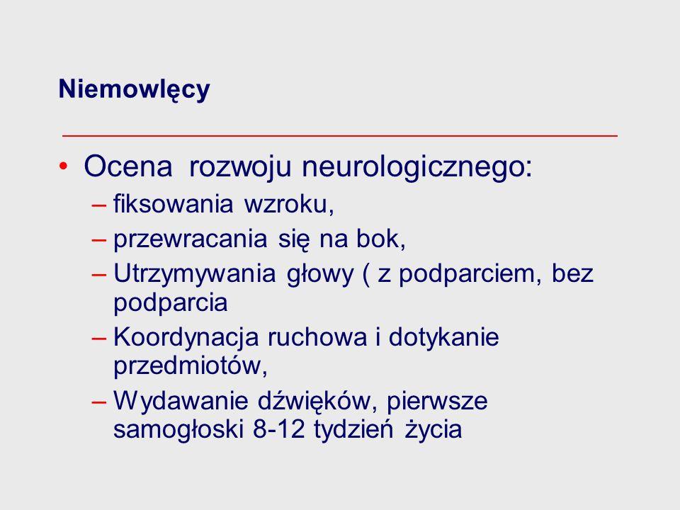 Ocena rozwoju neurologicznego: