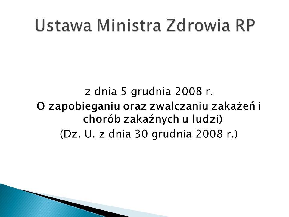 Ustawa Ministra Zdrowia RP