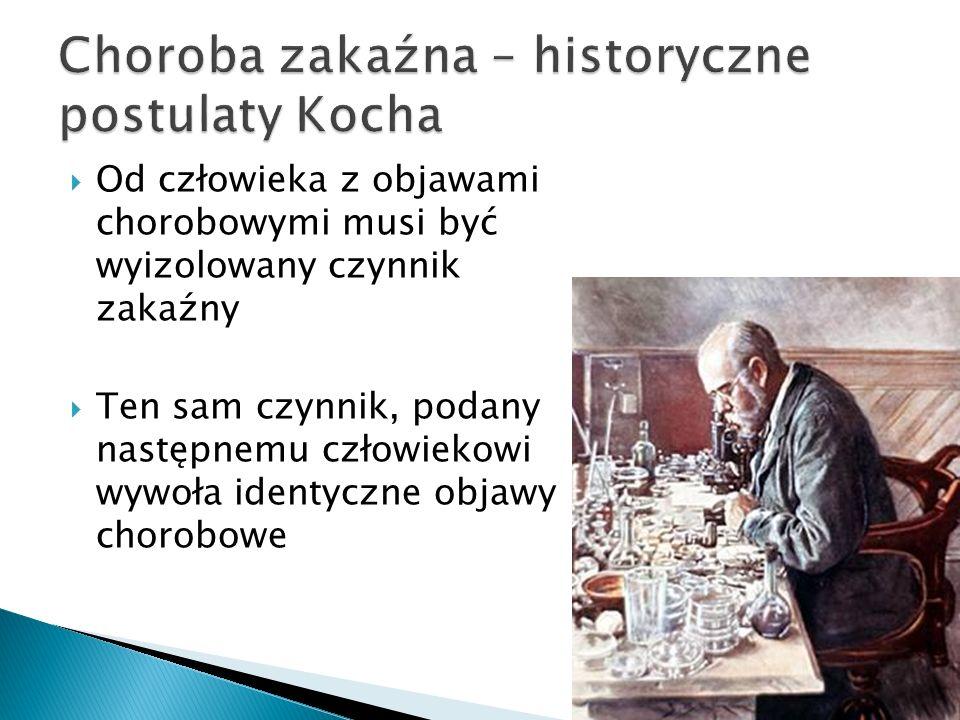 Choroba zakaźna – historyczne postulaty Kocha
