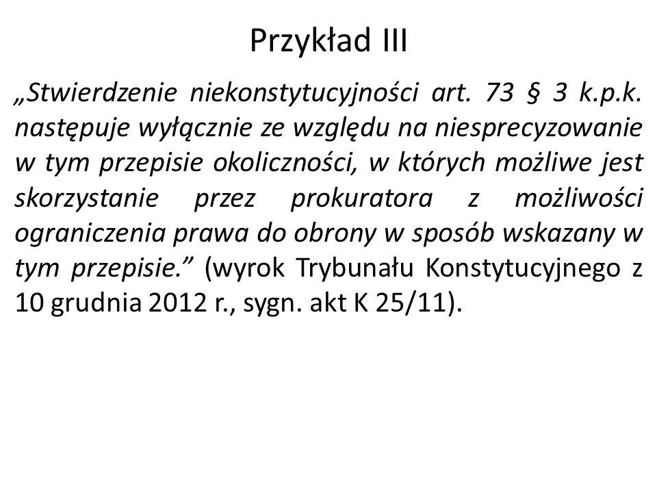 Przykład III