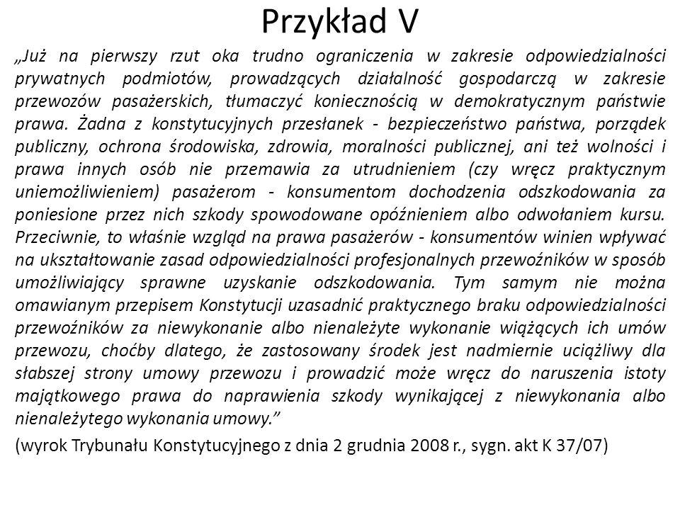 Przykład V