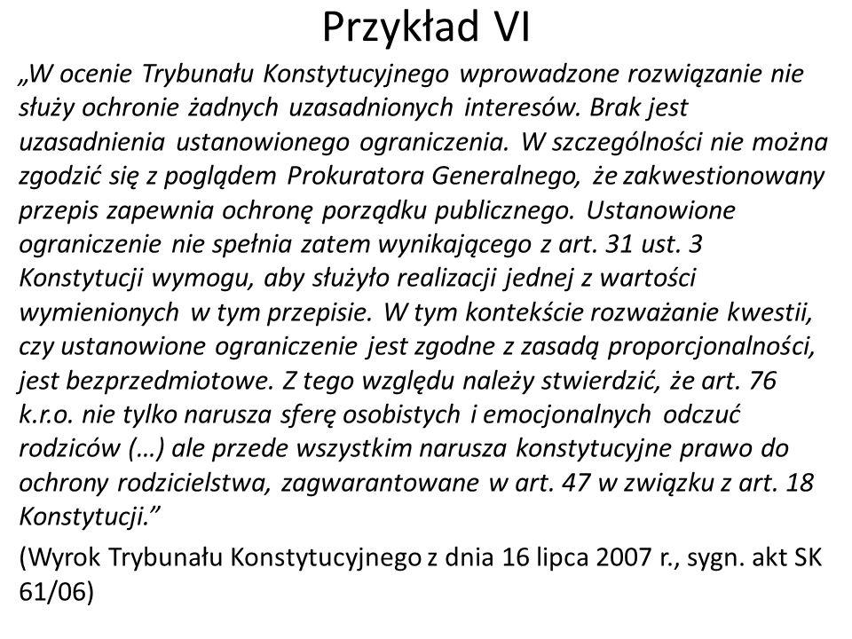 Przykład VI