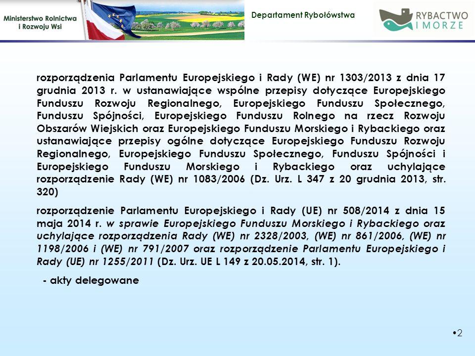 rozporządzenia Parlamentu Europejskiego i Rady (WE) nr 1303/2013 z dnia 17 grudnia 2013 r. w ustanawiające wspólne przepisy dotyczące Europejskiego Funduszu Rozwoju Regionalnego, Europejskiego Funduszu Społecznego, Funduszu Spójności, Europejskiego Funduszu Rolnego na rzecz Rozwoju Obszarów Wiejskich oraz Europejskiego Funduszu Morskiego i Rybackiego oraz ustanawiające przepisy ogólne dotyczące Europejskiego Funduszu Rozwoju Regionalnego, Europejskiego Funduszu Społecznego, Funduszu Spójności i Europejskiego Funduszu Morskiego i Rybackiego oraz uchylające rozporządzenie Rady (WE) nr 1083/2006 (Dz. Urz. L 347 z 20 grudnia 2013, str. 320)