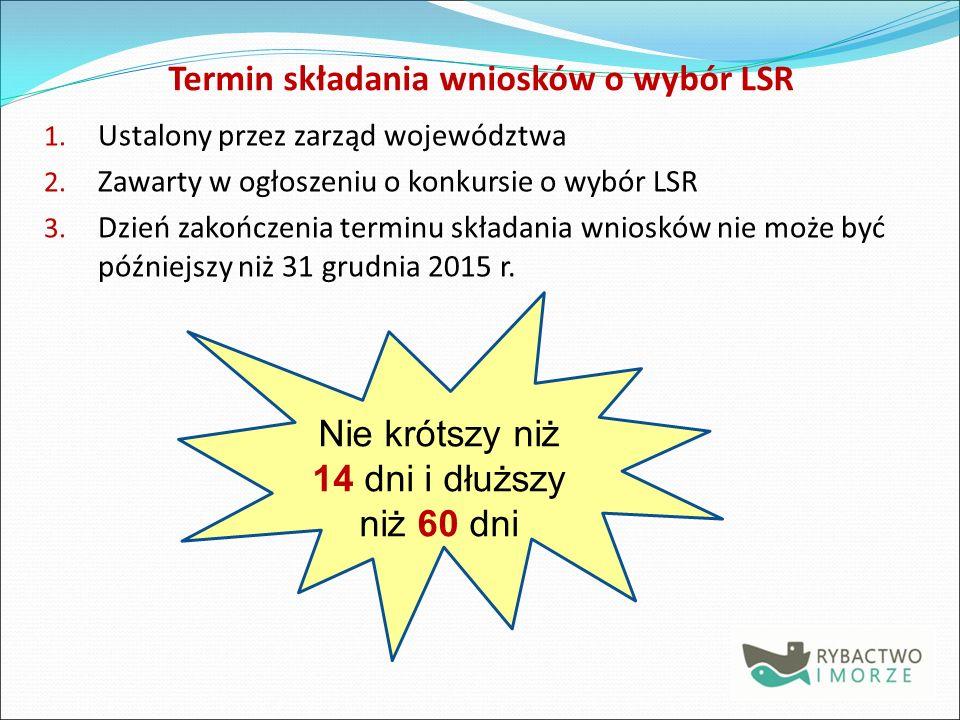 Termin składania wniosków o wybór LSR