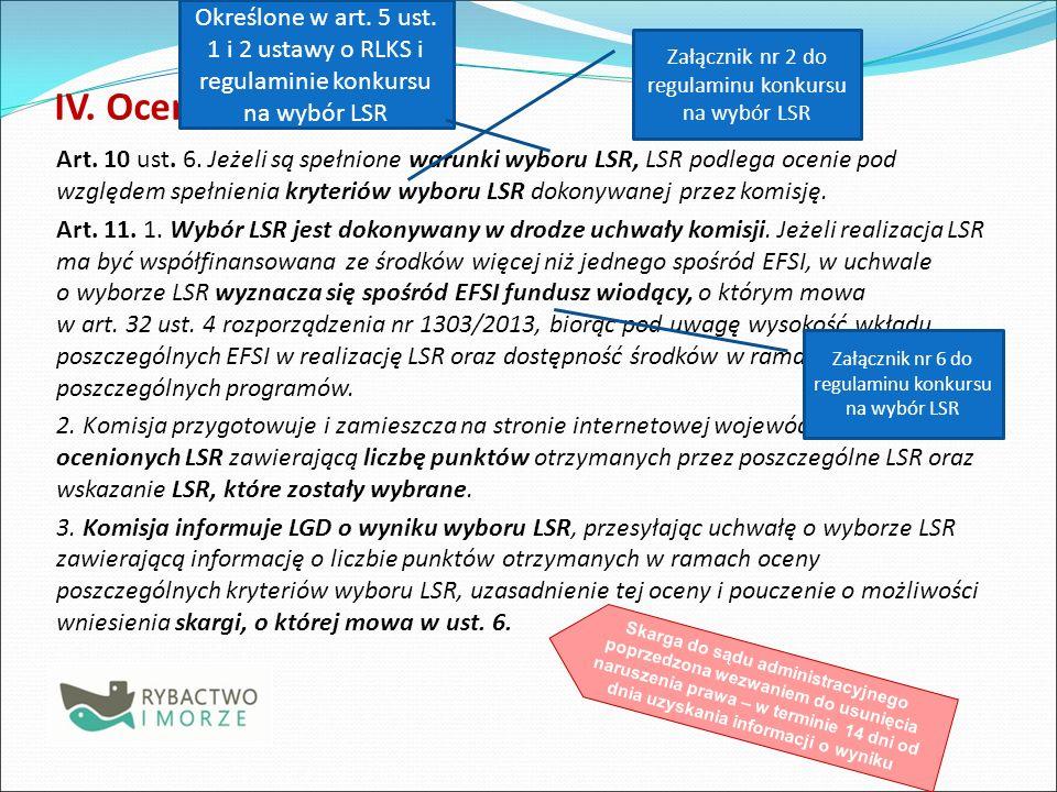 Określone w art. 5 ust. 1 i 2 ustawy o RLKS i regulaminie konkursu na wybór LSR