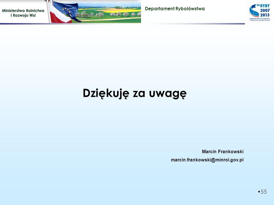 Dziękuję za uwagę Marcin Frankowski marcin.frankowski@minrol.gov.pl