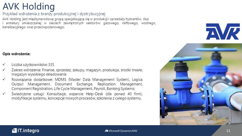 AVK Holding Przykład wdrożenia z branży produkcyjnej i dystrybucyjnej