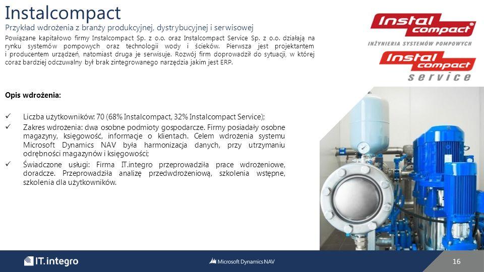 Instalcompact Przykład wdrożenia z branży produkcyjnej, dystrybucyjnej i serwisowej.