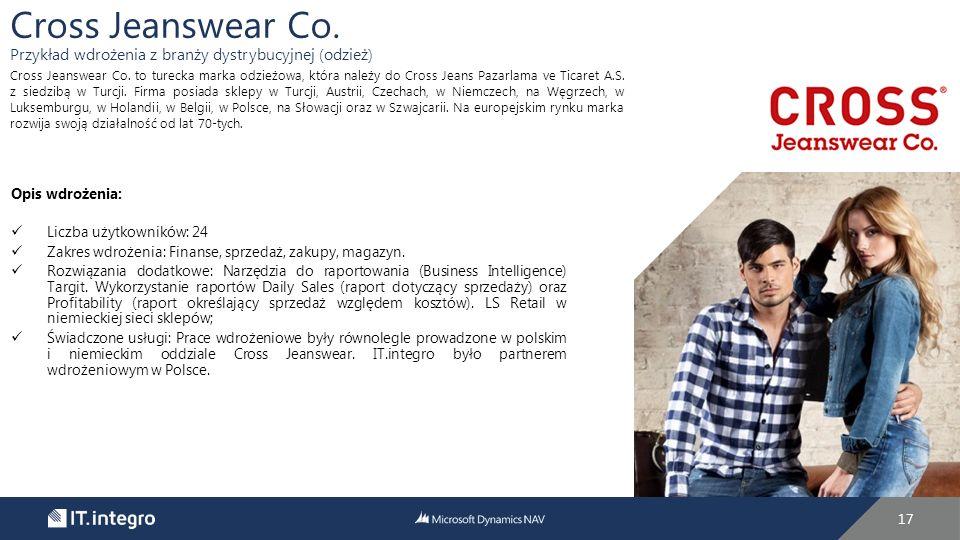 Cross Jeanswear Co. Przykład wdrożenia z branży dystrybucyjnej (odzież)