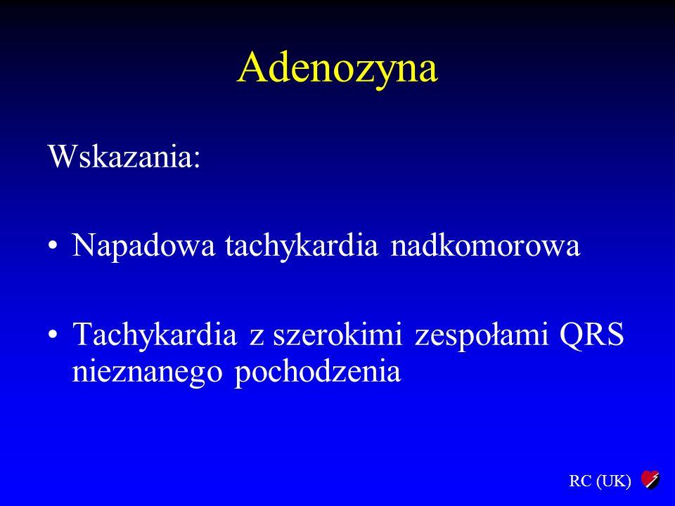 Adenozyna Wskazania: Napadowa tachykardia nadkomorowa