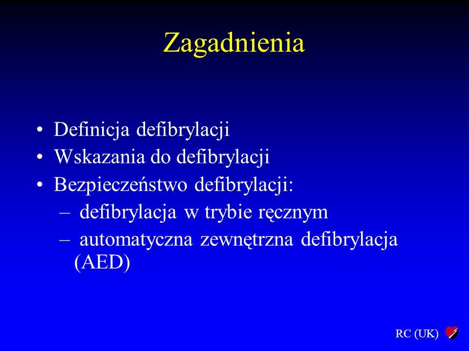 Zagadnienia Definicja defibrylacji Wskazania do defibrylacji