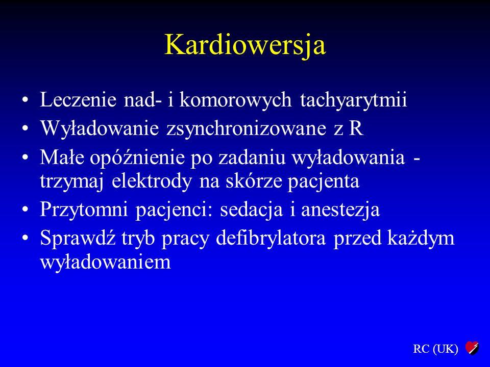Kardiowersja Leczenie nad- i komorowych tachyarytmii