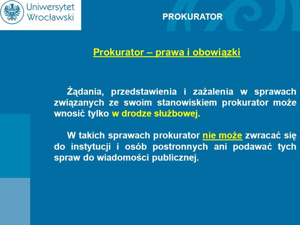 Prokurator – prawa i obowiązki