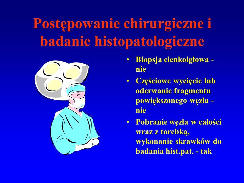 Postępowanie chirurgiczne i badanie histopatologiczne