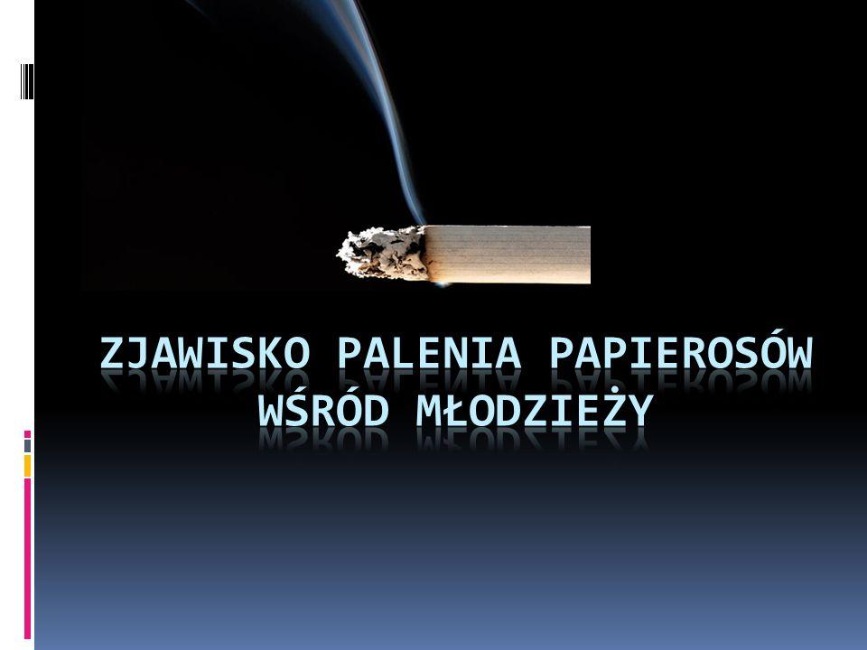 Zjawisko palenia papierosów wśród młodzieży