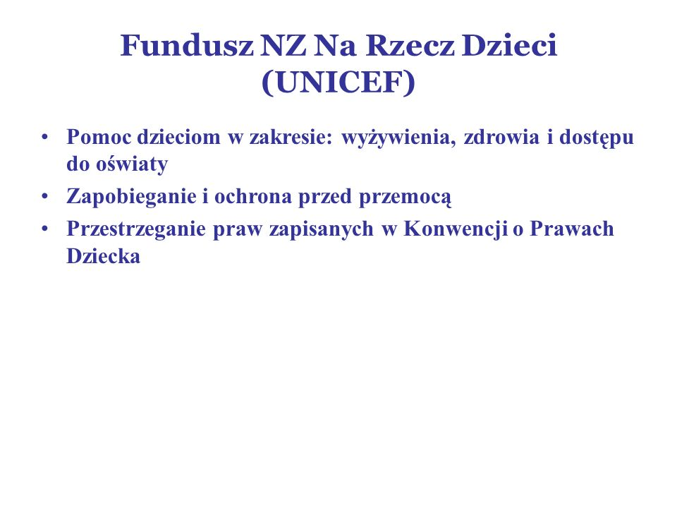 Fundusz NZ Na Rzecz Dzieci (UNICEF)