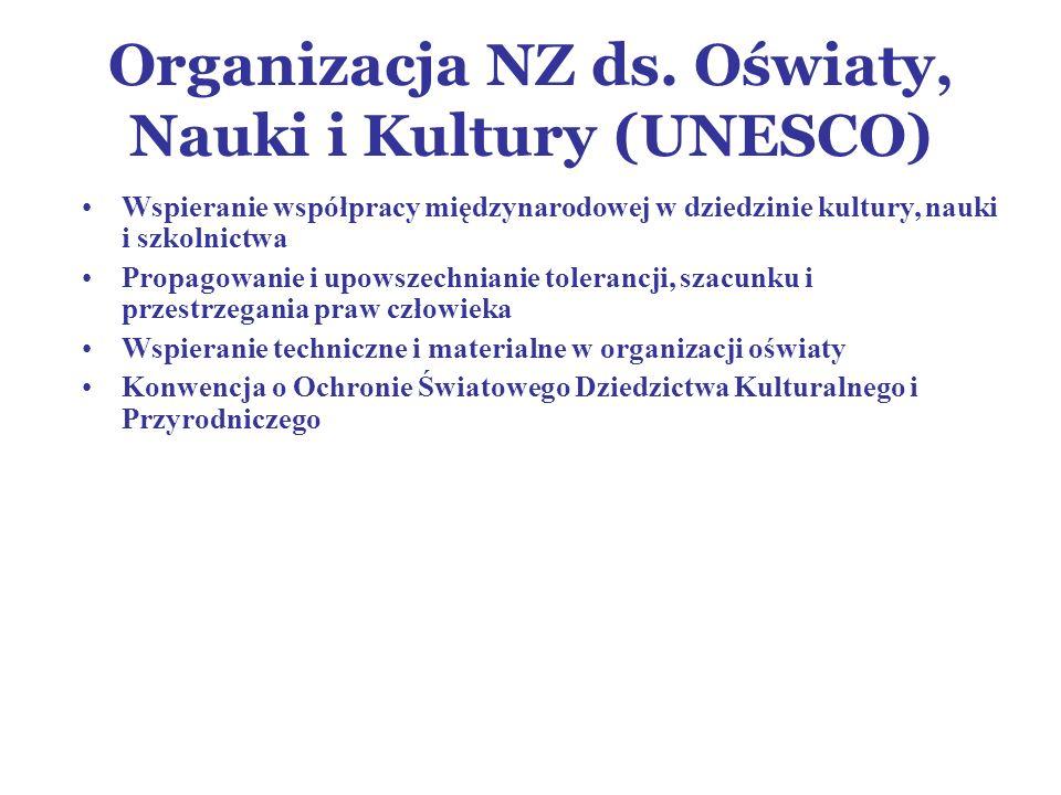 Organizacja NZ ds. Oświaty, Nauki i Kultury (UNESCO)