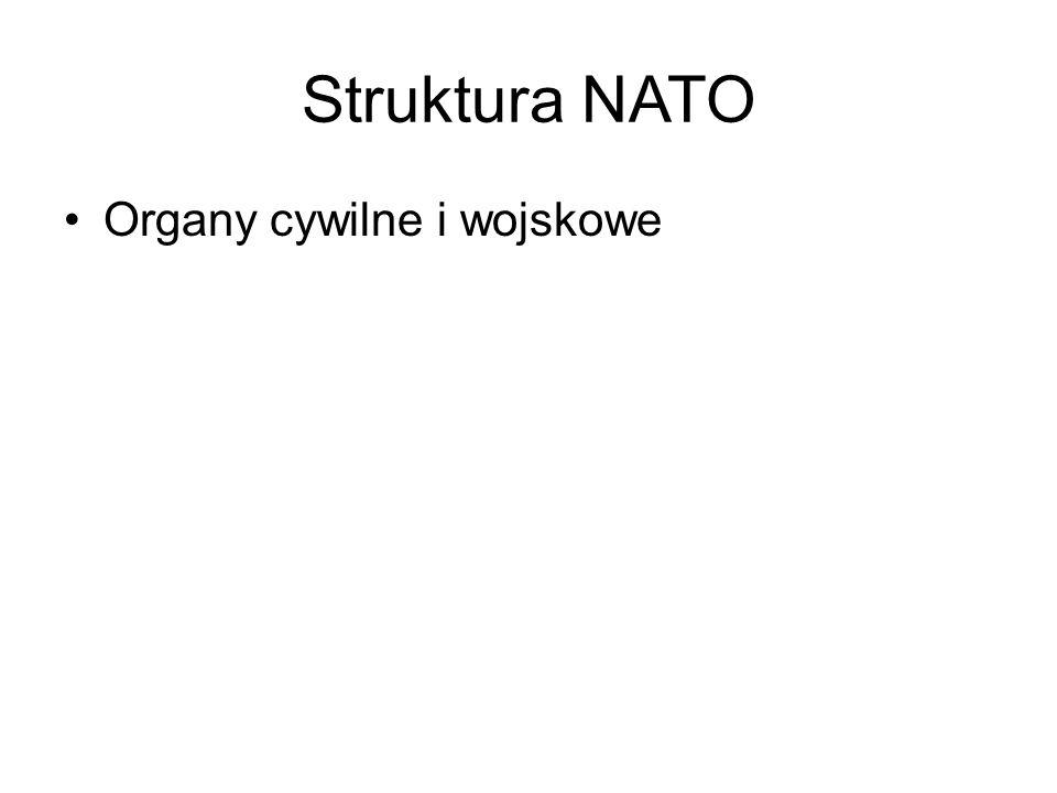 Struktura NATO Organy cywilne i wojskowe