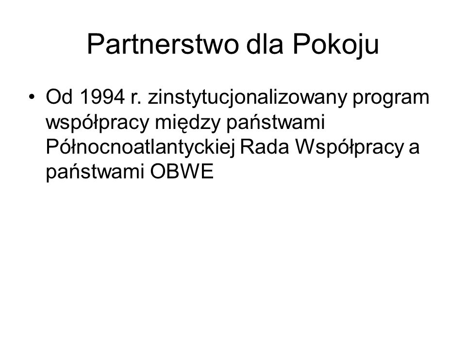 Partnerstwo dla Pokoju