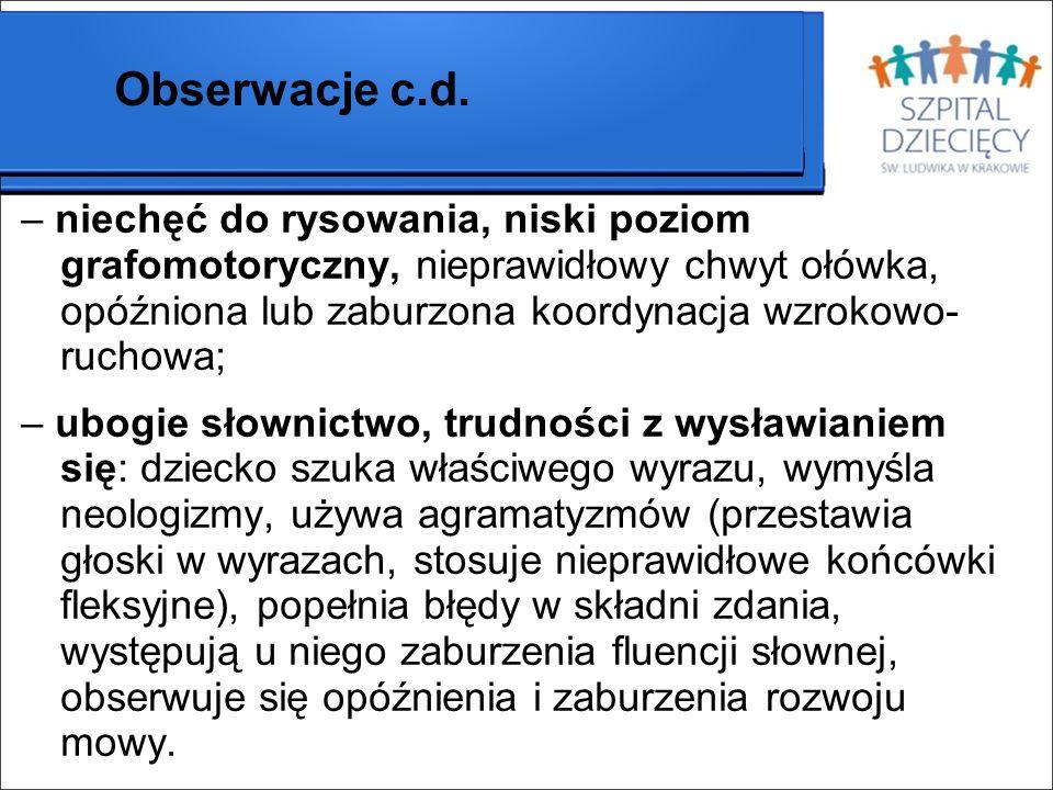 Obserwacje c.d.