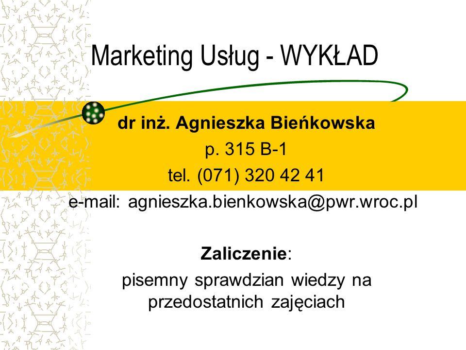 Marketing Usług - WYKŁAD