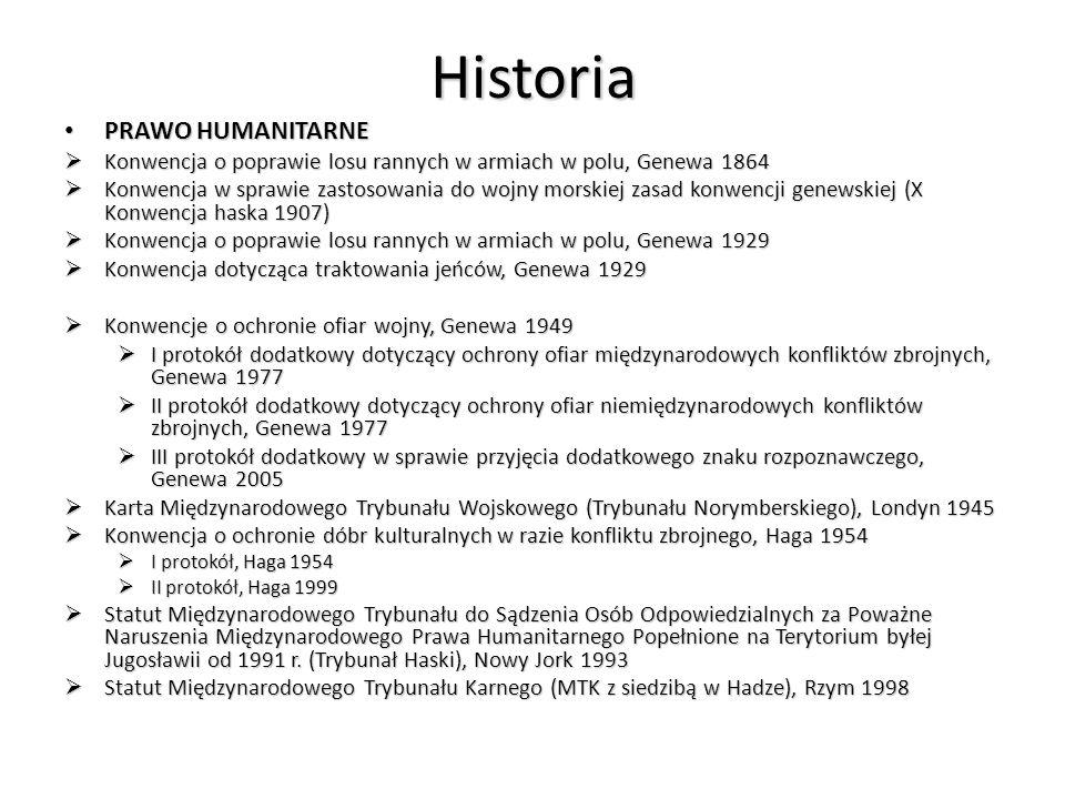 Historia PRAWO HUMANITARNE