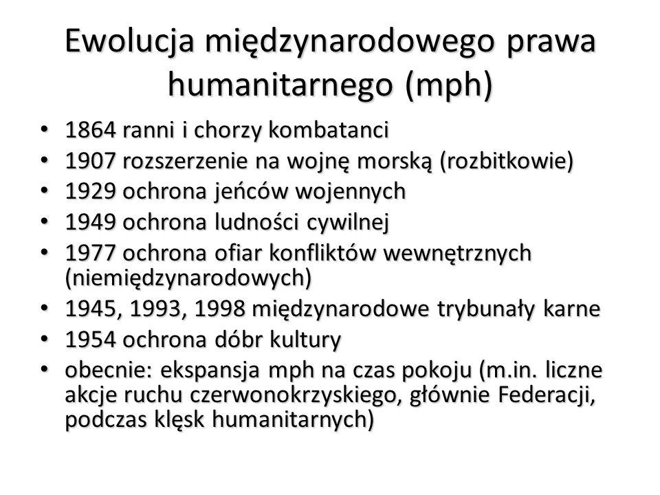 Ewolucja międzynarodowego prawa humanitarnego (mph)