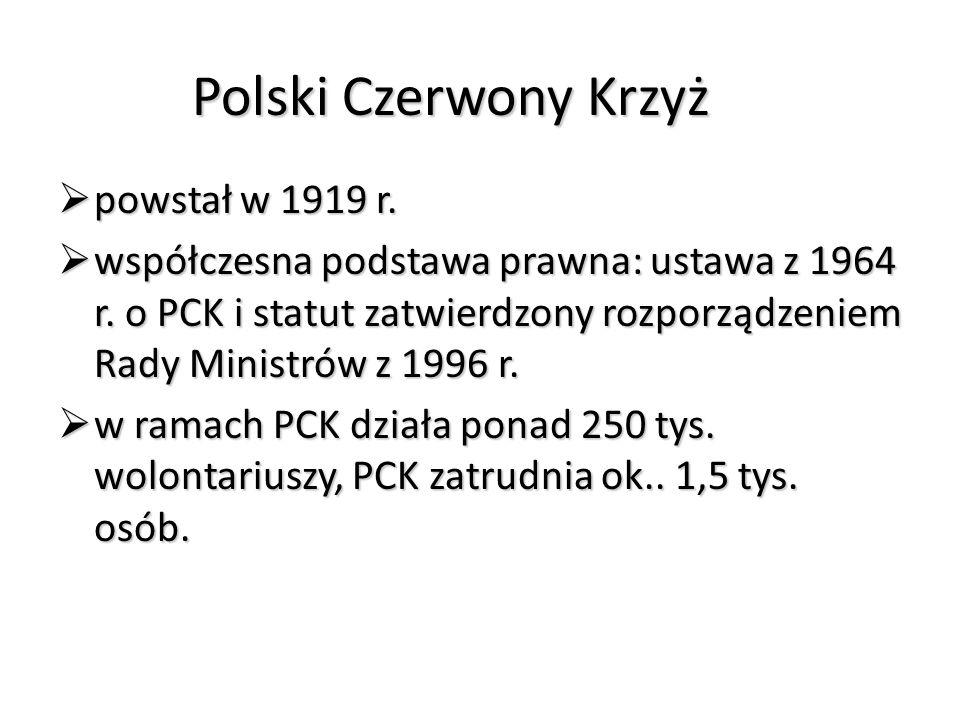Polski Czerwony Krzyż powstał w 1919 r.