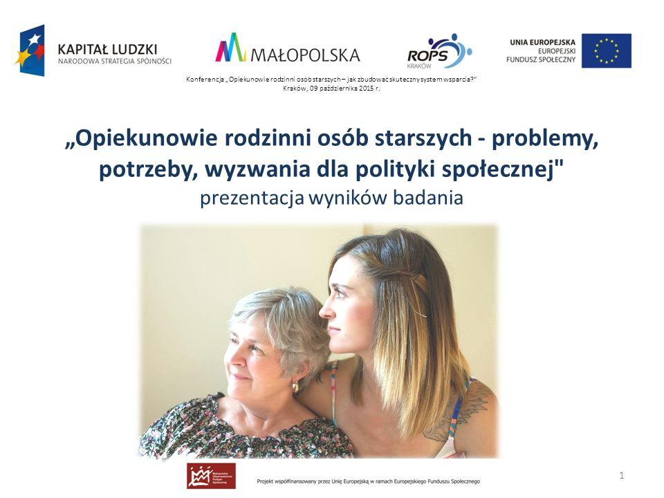"""Konferencja """"Opiekunowie rodzinni osób starszych – jak zbudować skuteczny system wsparcia"""