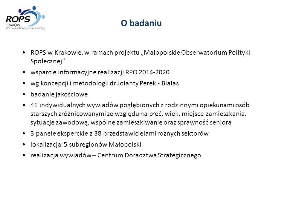 """O badaniu ROPS w Krakowie, w ramach projektu """"Małopolskie Obserwatorium Polityki Społecznej wsparcie informacyjne realizacji RPO 2014-2020."""