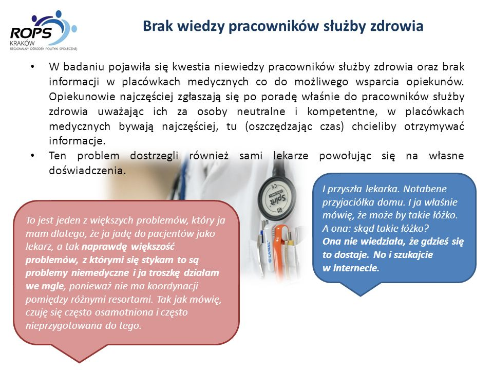 Brak wiedzy pracowników służby zdrowia