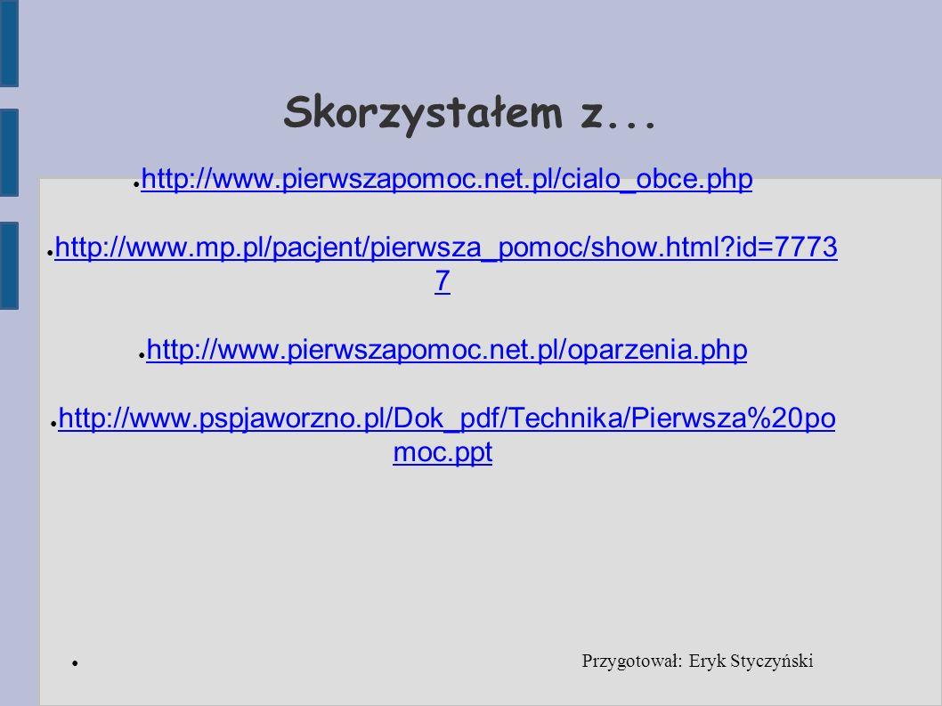 Przygotował: Eryk Styczyński