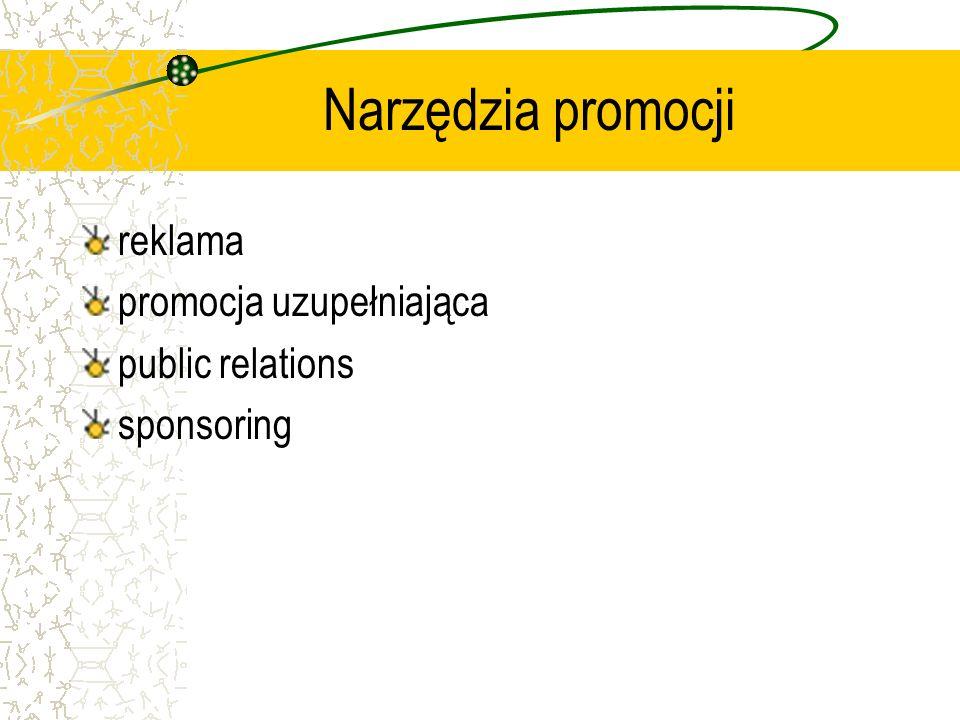 Narzędzia promocji reklama promocja uzupełniająca public relations