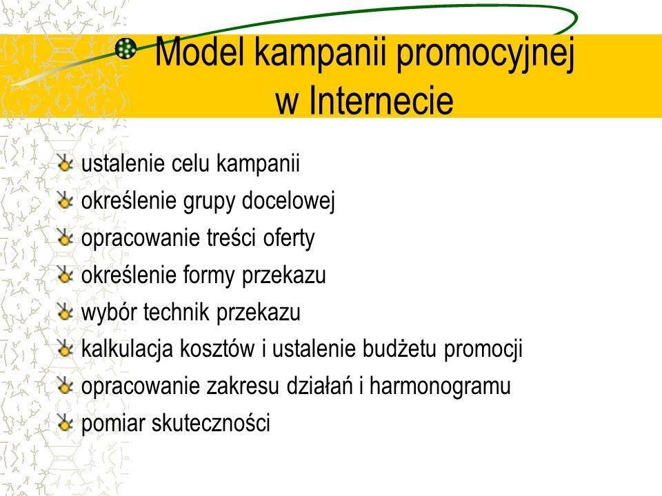 Model kampanii promocyjnej w Internecie