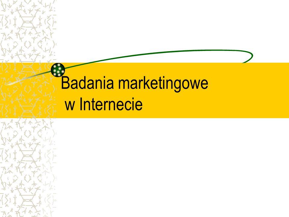 Badania marketingowe w Internecie
