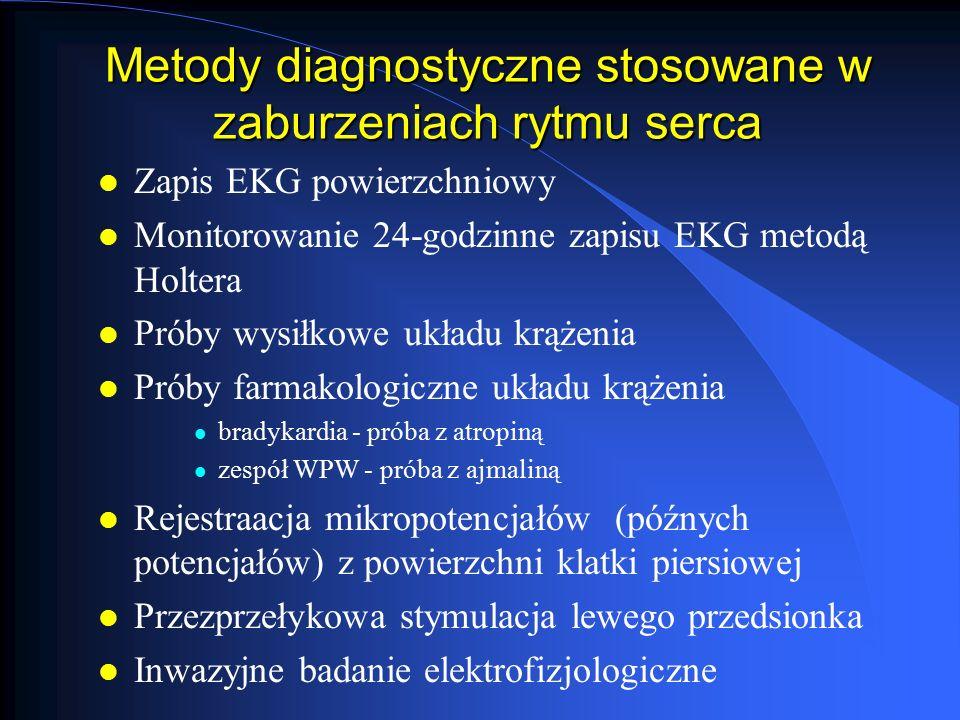Metody diagnostyczne stosowane w zaburzeniach rytmu serca
