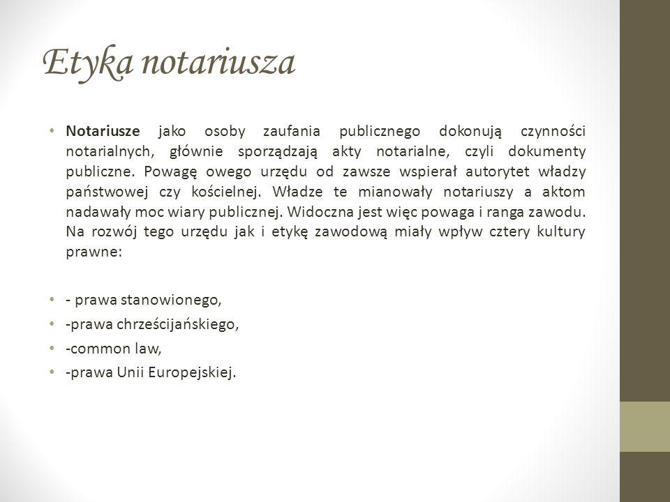 Etyka notariusza
