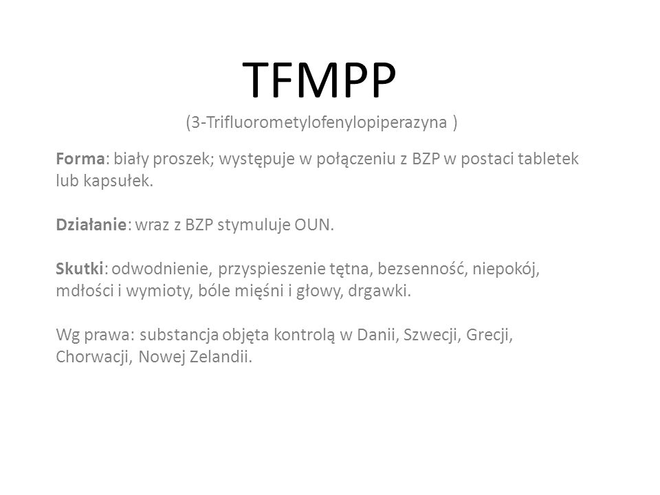TFMPP (3-Trifluorometylofenylopiperazyna )