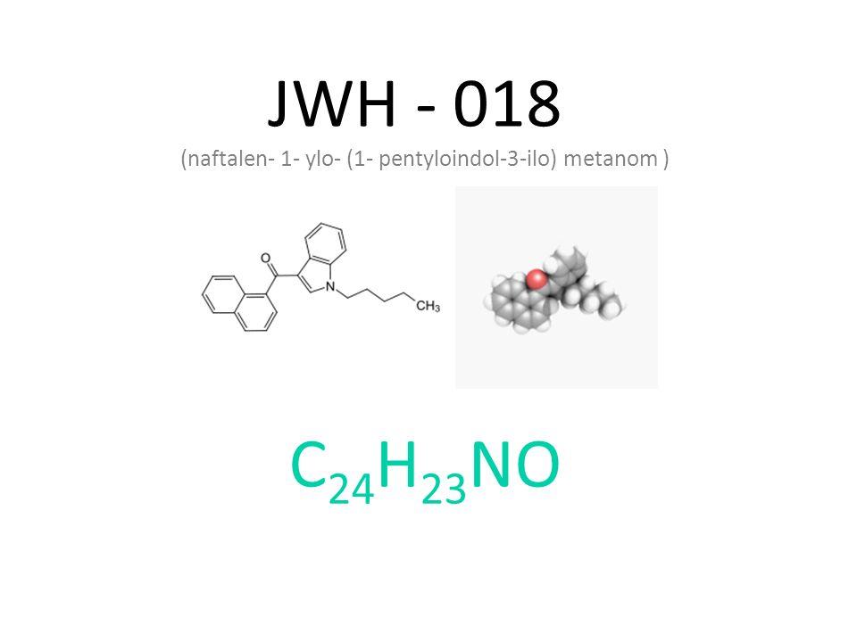 JWH - 018 (naftalen- 1- ylo- (1- pentyloindol-3-ilo) metanom ) C24H23NO