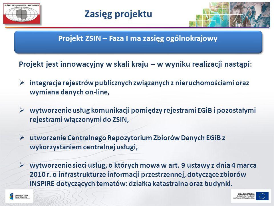 Projekt ZSIN – Faza I ma zasięg ogólnokrajowy